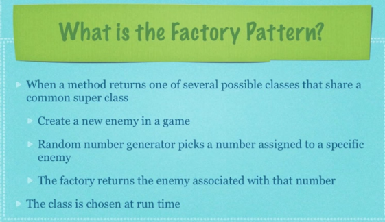 Factory pattern - when
